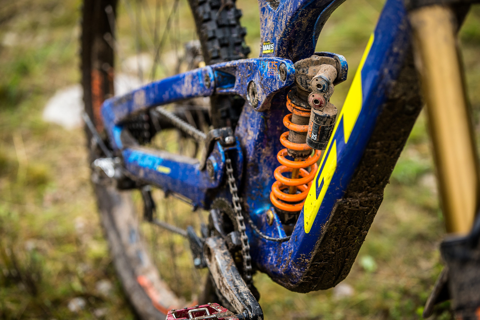 FOX DHX2 Shock - WINNING BIKE - Martin Maes' GT Fury - Mountain Biking Pictures - Vital MTB