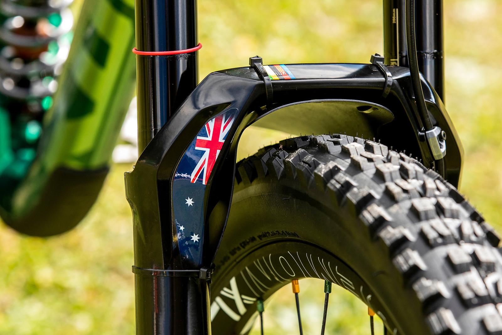 Aussie Accents - WORLD CHAMPS BIKE - Connor Fearon's Kona Operator - Mountain Biking Pictures - Vital MTB