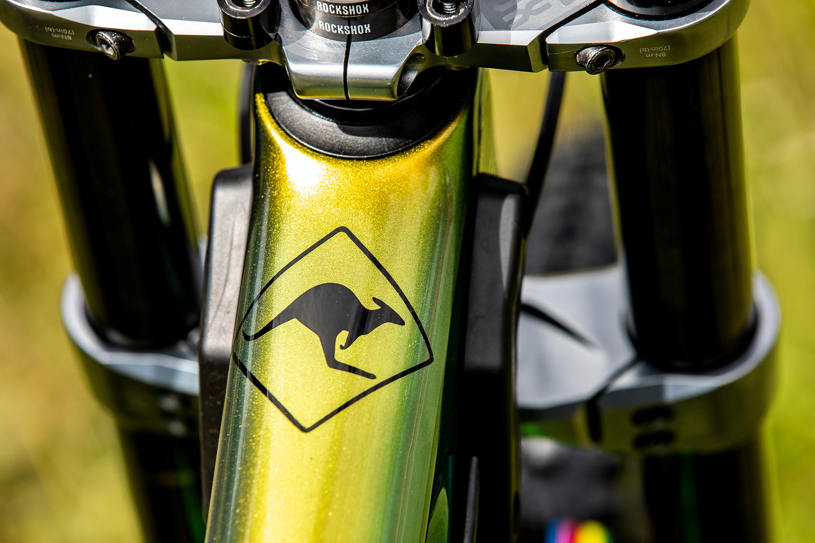 Aussie Pride - WORLD CHAMPS BIKE - Connor Fearon's Kona Operator - Mountain Biking Pictures - Vital MTB