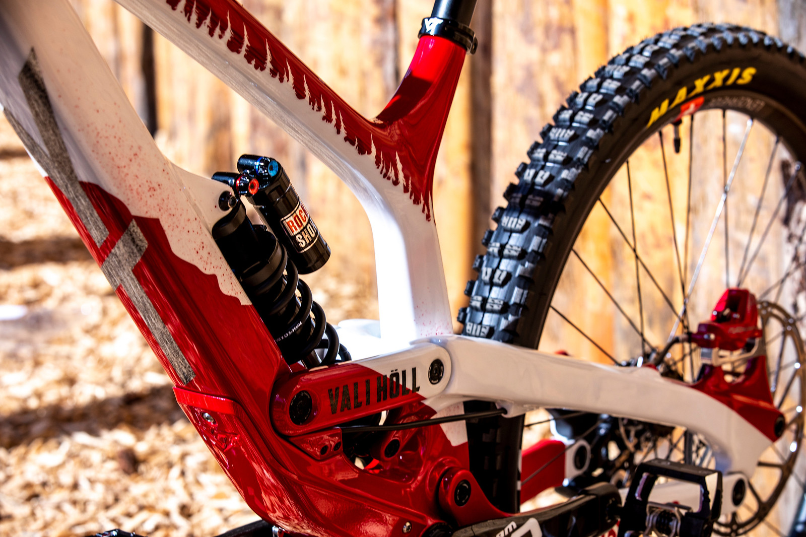 Red and White Goods - WORLD CHAMPS BIKE - Vali Holl's YT TUES - Mountain Biking Pictures - Vital MTB