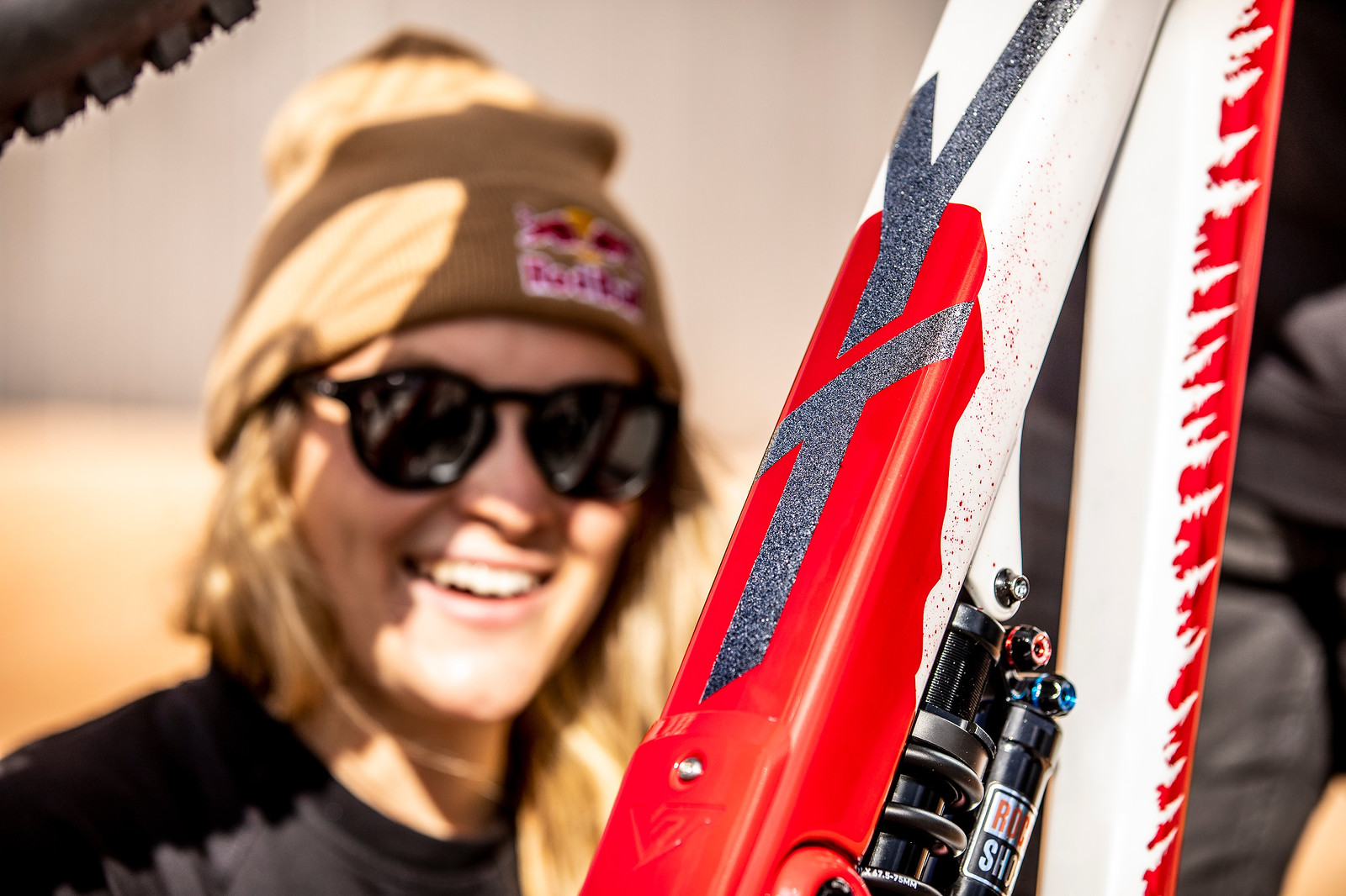 Vali Love Glitter - WORLD CHAMPS BIKE - Vali Holl's YT TUES - Mountain Biking Pictures - Vital MTB