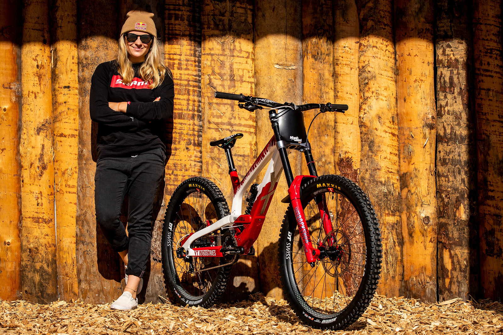 Vali Holl with her World Champs YT TUES - WORLD CHAMPS BIKE - Vali Holl's YT TUES - Mountain Biking Pictures - Vital MTB