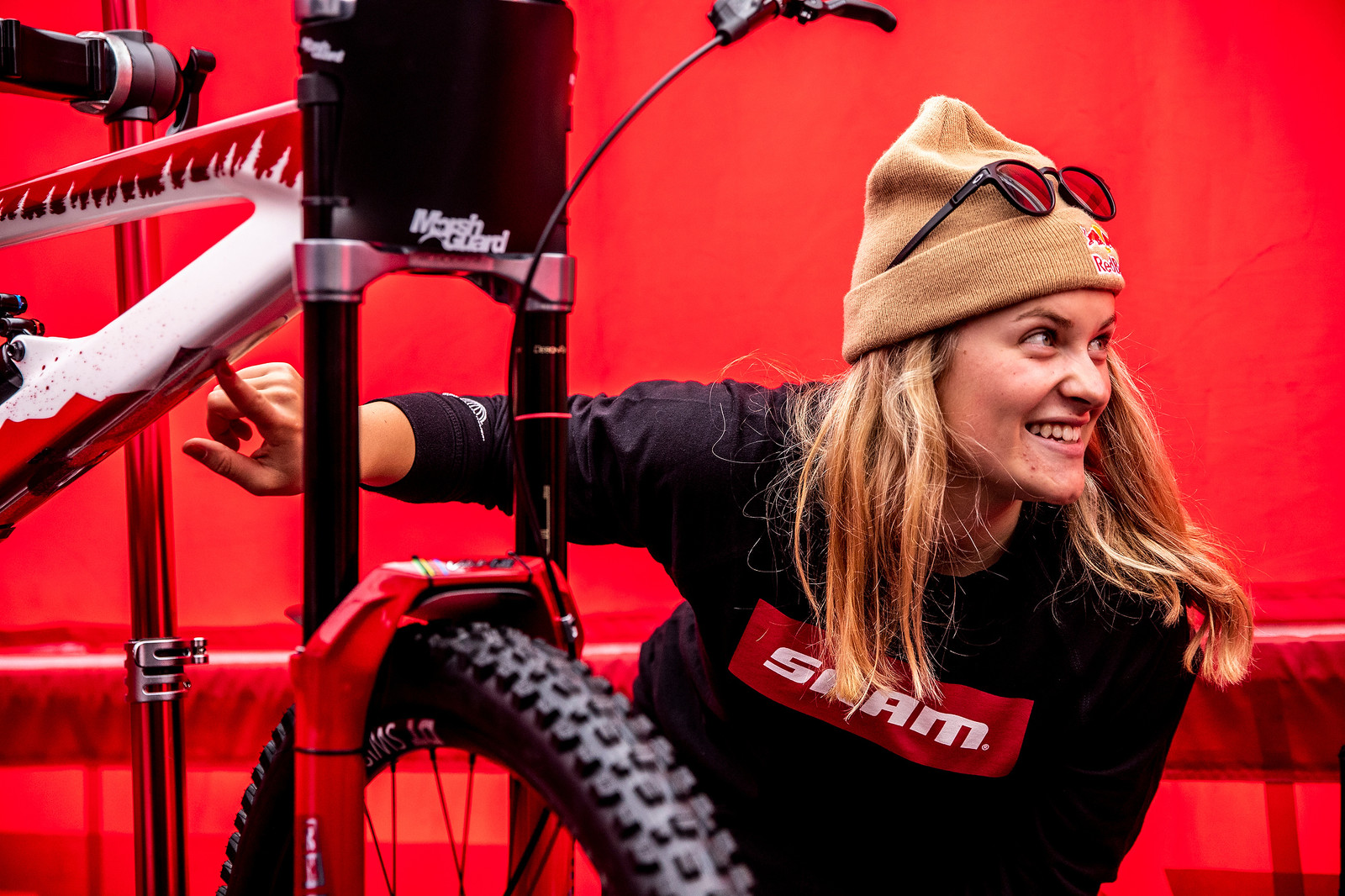 Stoked on the Glitter! - WORLD CHAMPS BIKE - Vali Holl's YT TUES - Mountain Biking Pictures - Vital MTB