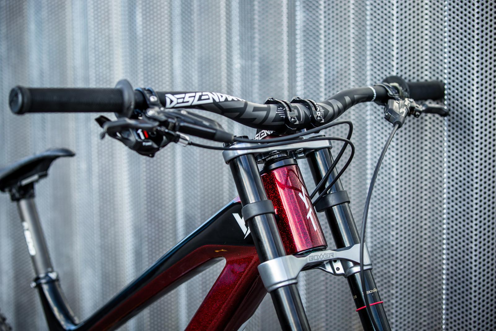 Descendant Cockpit - WORLD CHAMPS BIKES - Erik Irmisch's YT TUES - Mountain Biking Pictures - Vital MTB