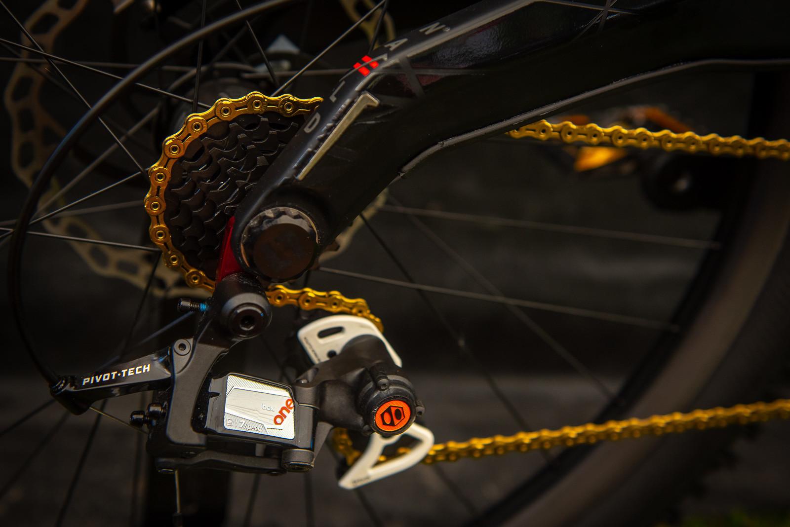 BOX Drivetrain - WORLD CHAMPS BIKES - Mick & Tracey Hannah's Polygons - Mountain Biking Pictures - Vital MTB