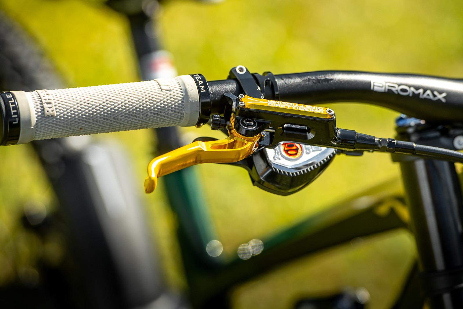 Trickstuff Direttissima Brakes - WORLD CHAMPS BIKES - Mick & Tracey Hannah's Polygons - Mountain Biking Pictures - Vital MTB
