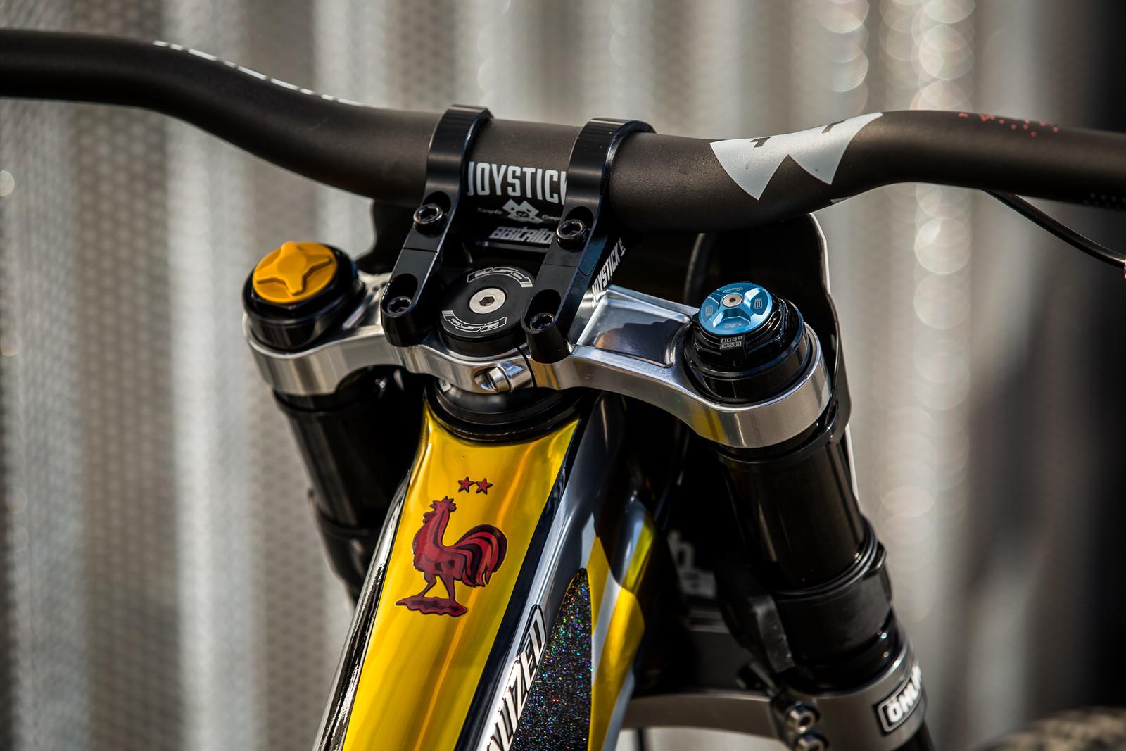 Joystick Cockpit - WORLD CHAMPS BIKE - Loic Bruni's Specialized Demo - Mountain Biking Pictures - Vital MTB