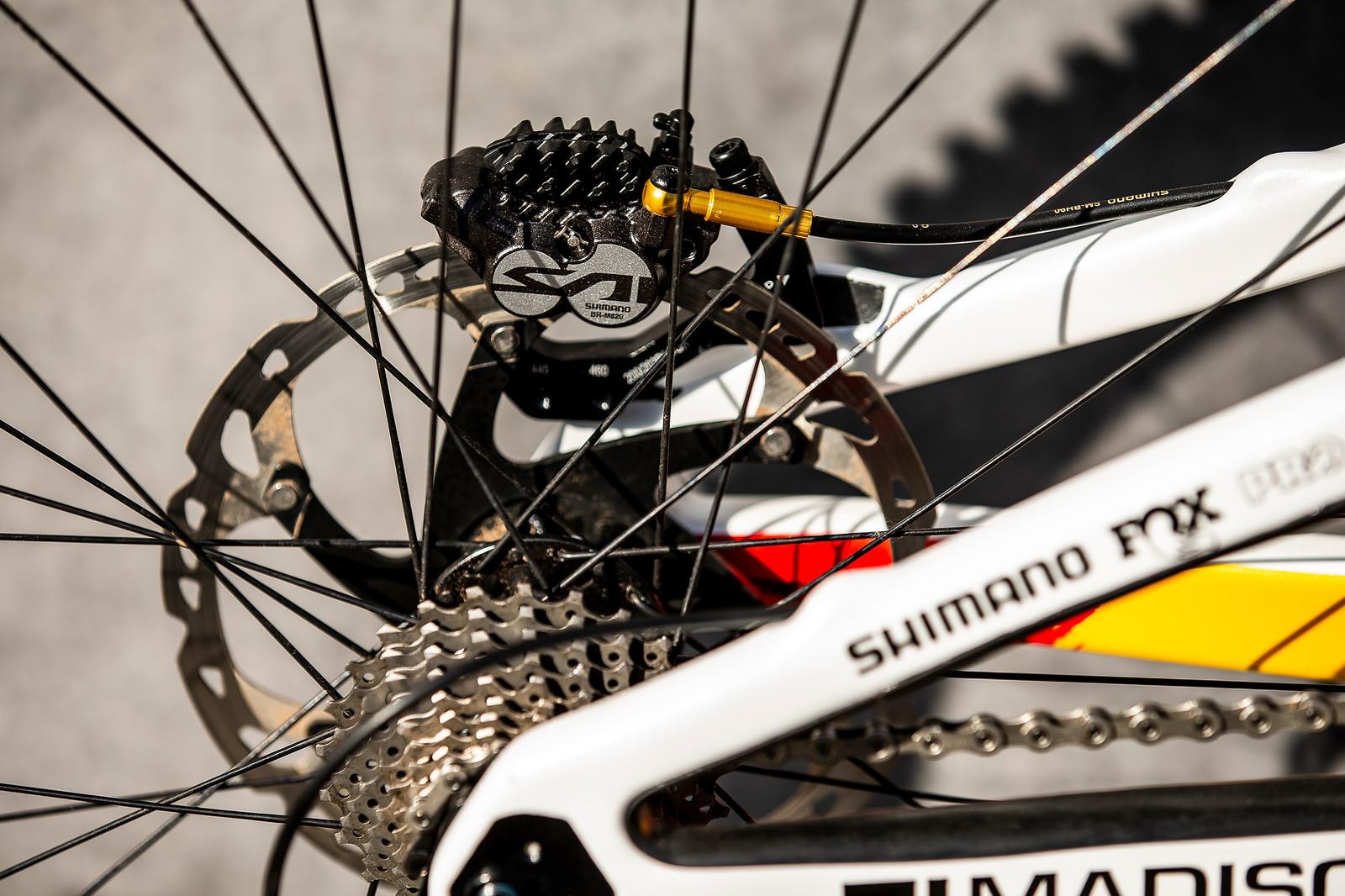 Saint Brakes - WORLD CHAMPS BIKE - Alex Marin's Saracen Myst - Mountain Biking Pictures - Vital MTB