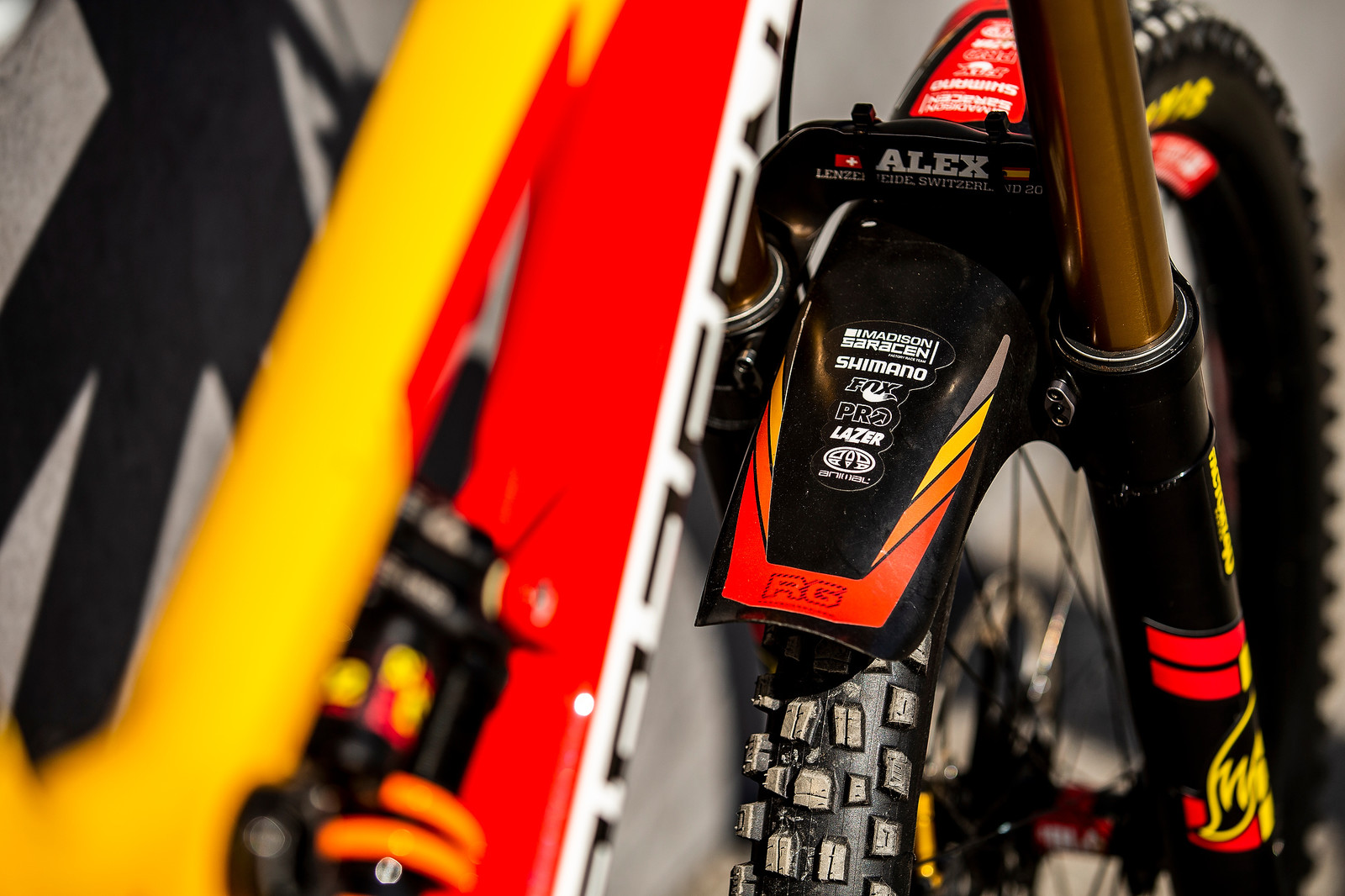 The Supporters - WORLD CHAMPS BIKE - Alex Marin's Saracen Myst - Mountain Biking Pictures - Vital MTB