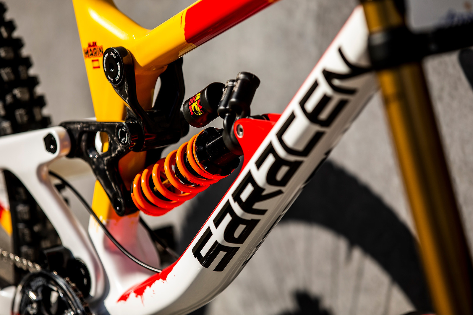 Fire on the Mountain - WORLD CHAMPS BIKE - Alex Marin's Saracen Myst - Mountain Biking Pictures - Vital MTB