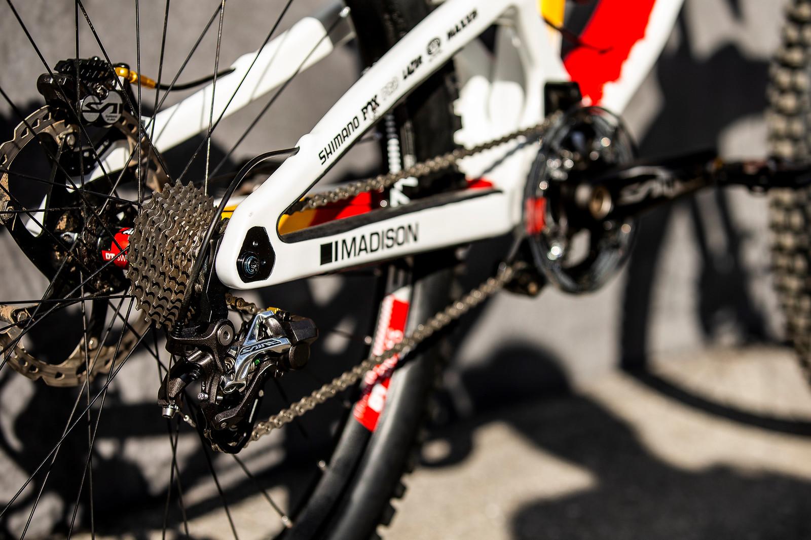 Shimano Saint Drivetrain - WORLD CHAMPS BIKE - Alex Marin's Saracen Myst - Mountain Biking Pictures - Vital MTB