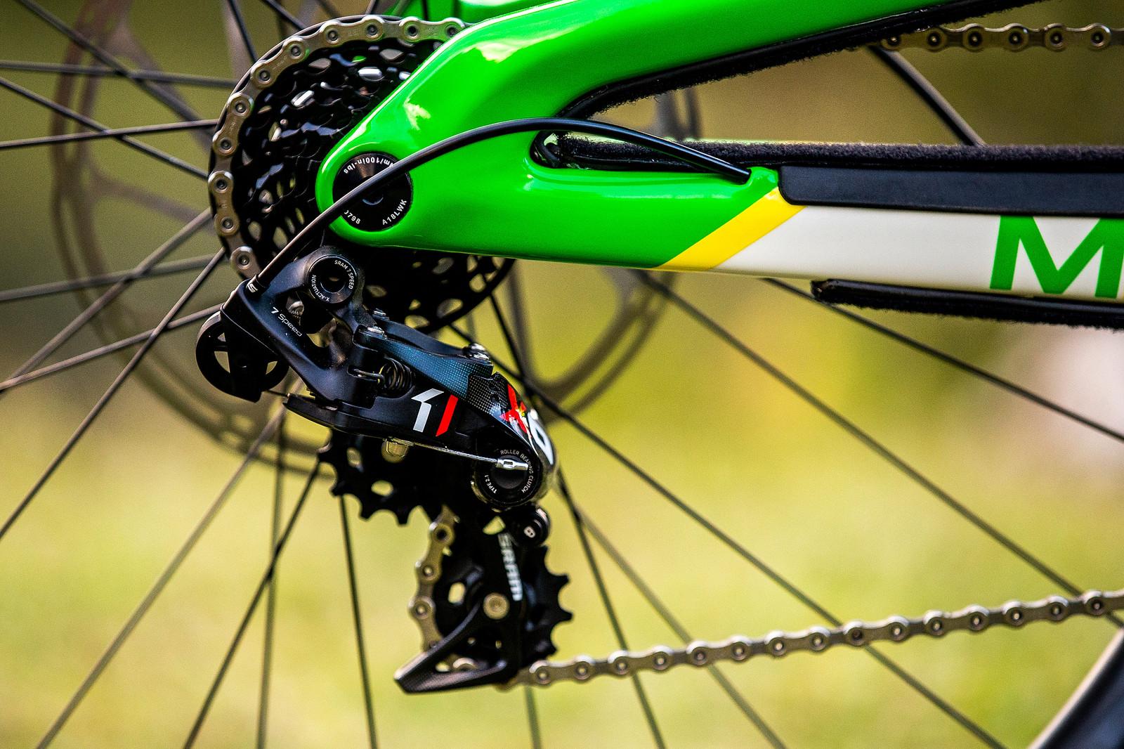SRAM Shifting - WORLD CHAMPS BIKE - Dean Lucas' Intense M29 - Mountain Biking Pictures - Vital MTB