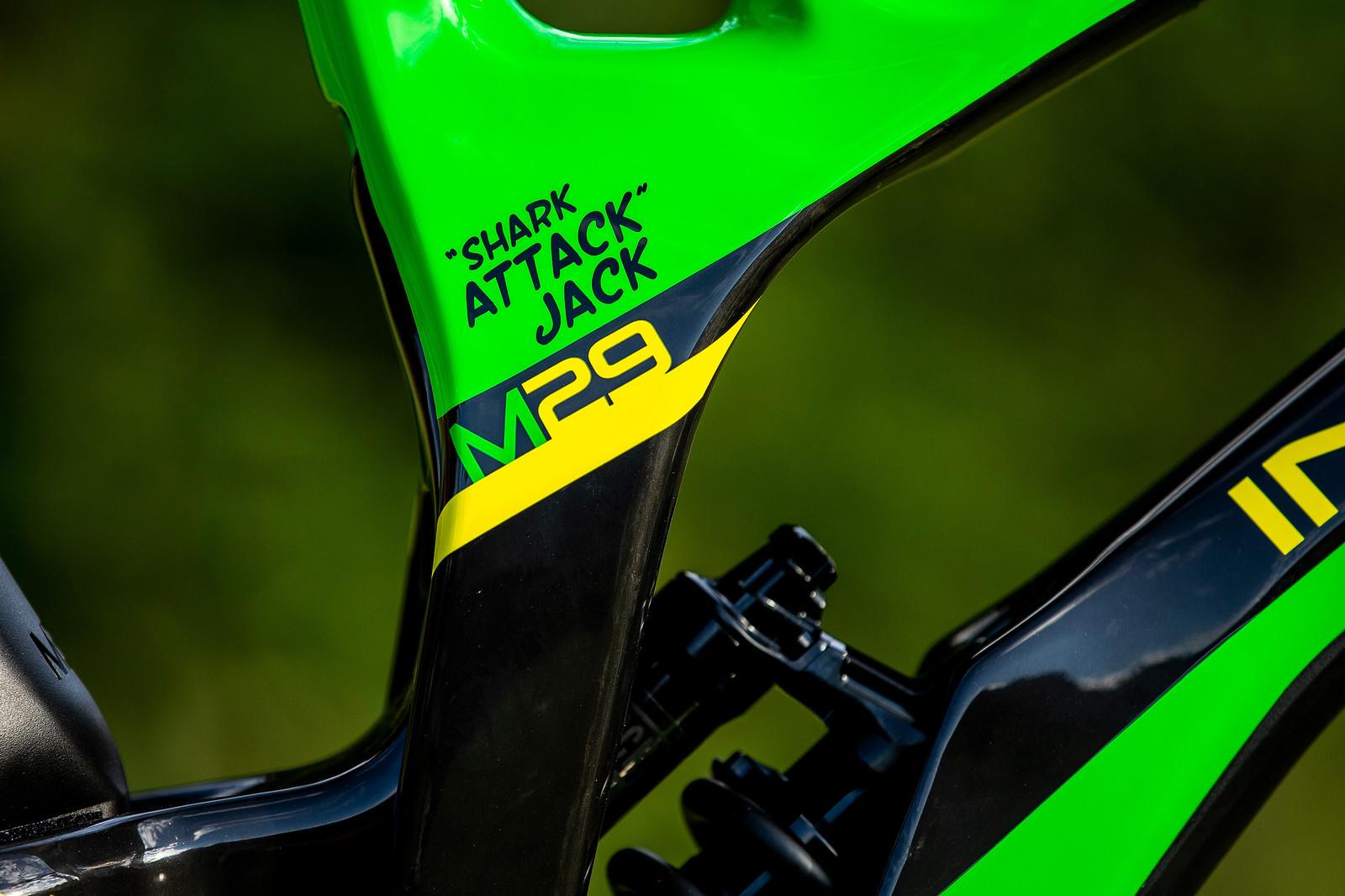 Shark Attack - WORLD CHAMPS BIKE - Jack Moir's Intense M29 - Mountain Biking Pictures - Vital MTB