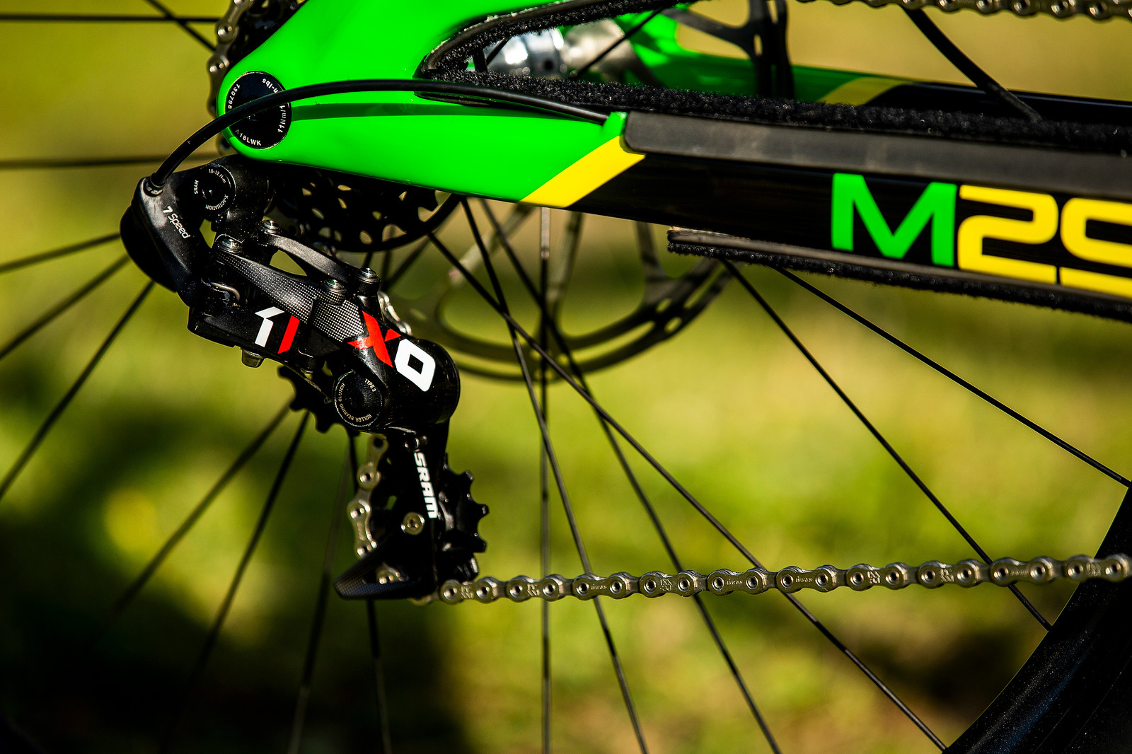 SRAM Shifting - WORLD CHAMPS BIKE - Jack Moir's Intense M29 - Mountain Biking Pictures - Vital MTB