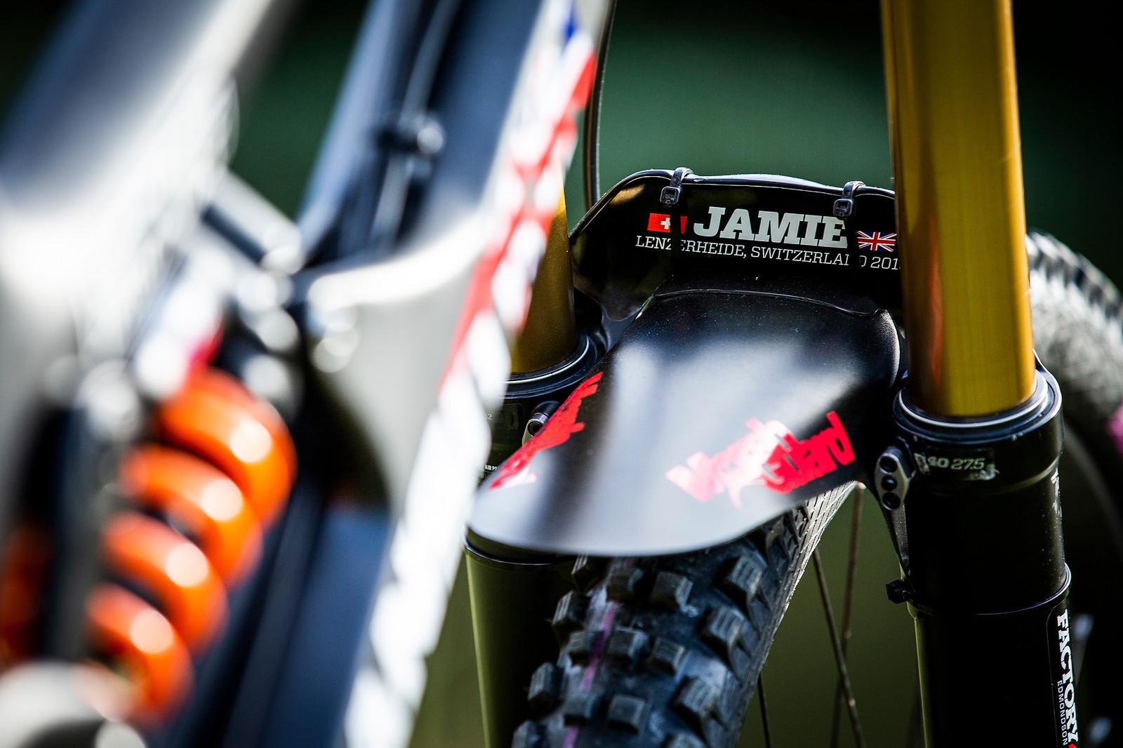 Fork Bridge Cover - WORLD CHAMPS BIKE - Jamie Edmondson's Transition TR11 - Mountain Biking Pictures - Vital MTB