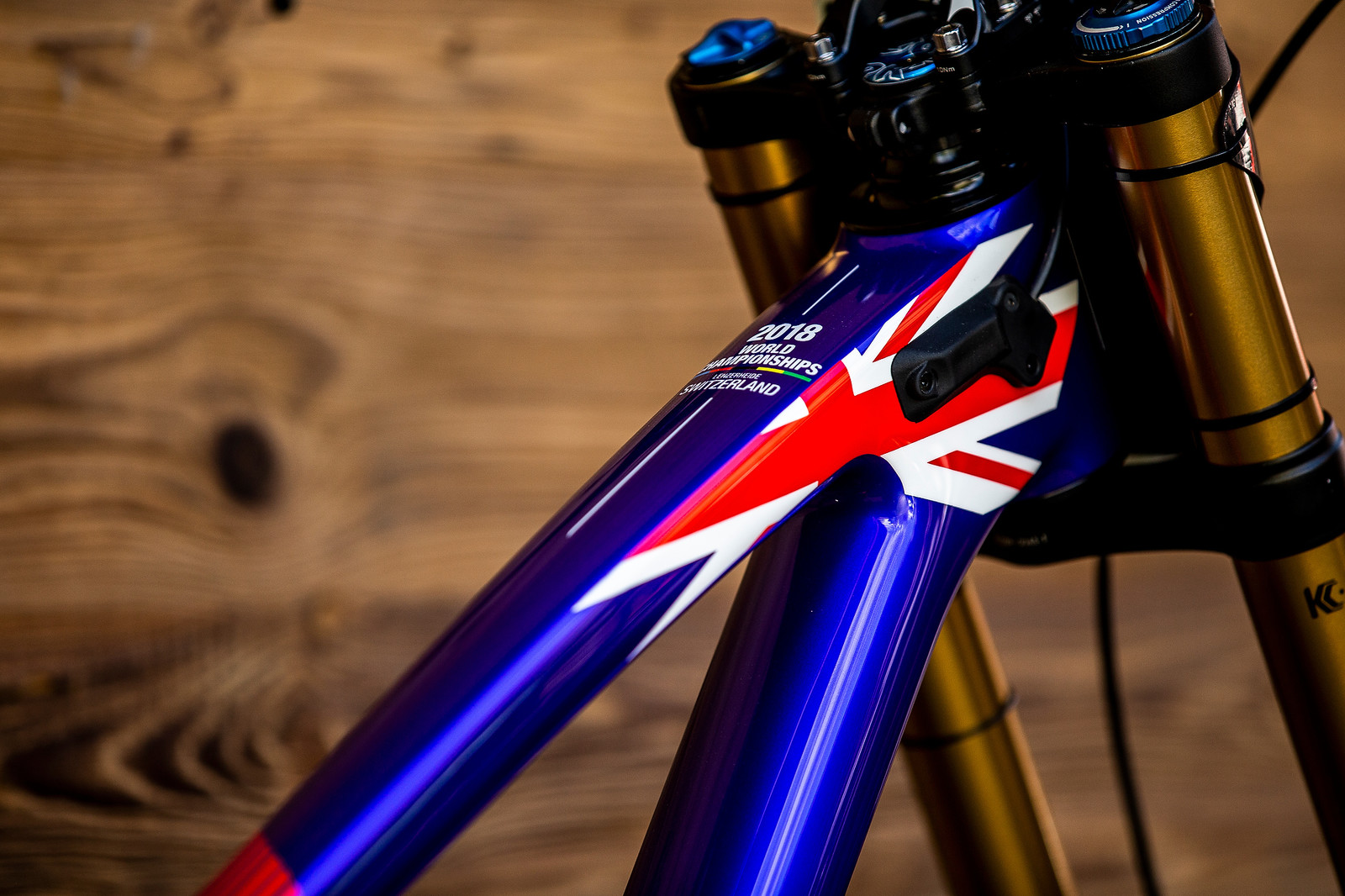 Union Jack - WORLD CHAMPS BIKE - Matt Walker's Saracen Myst - Mountain Biking Pictures - Vital MTB