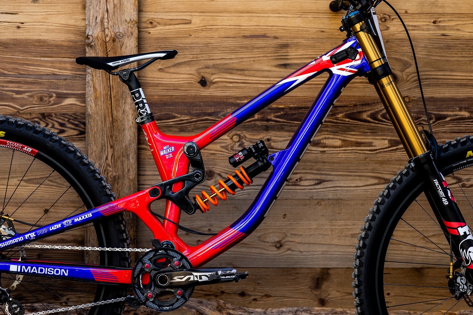 The British Matt Walker - WORLD CHAMPS BIKE - Matt Walker's Saracen Myst - Mountain Biking Pictures - Vital MTB