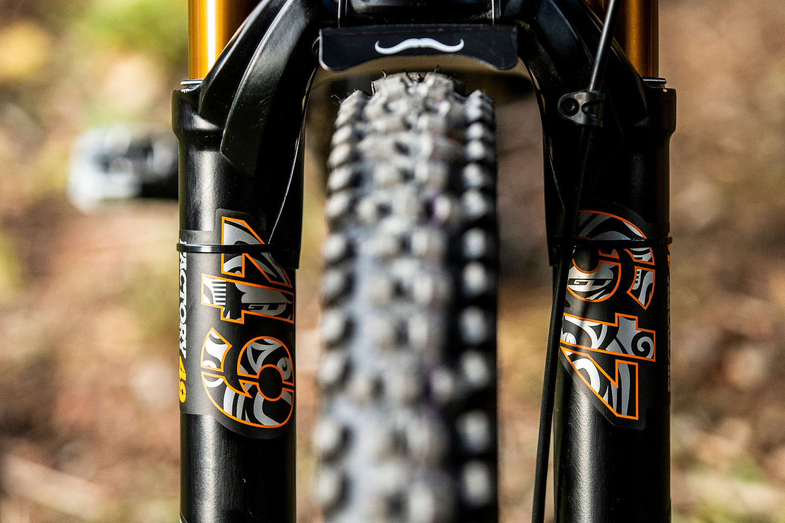 A Touch of Orange - WORLD CHAMPS BIKE - Wyn Masters' GT Fury - Mountain Biking Pictures - Vital MTB