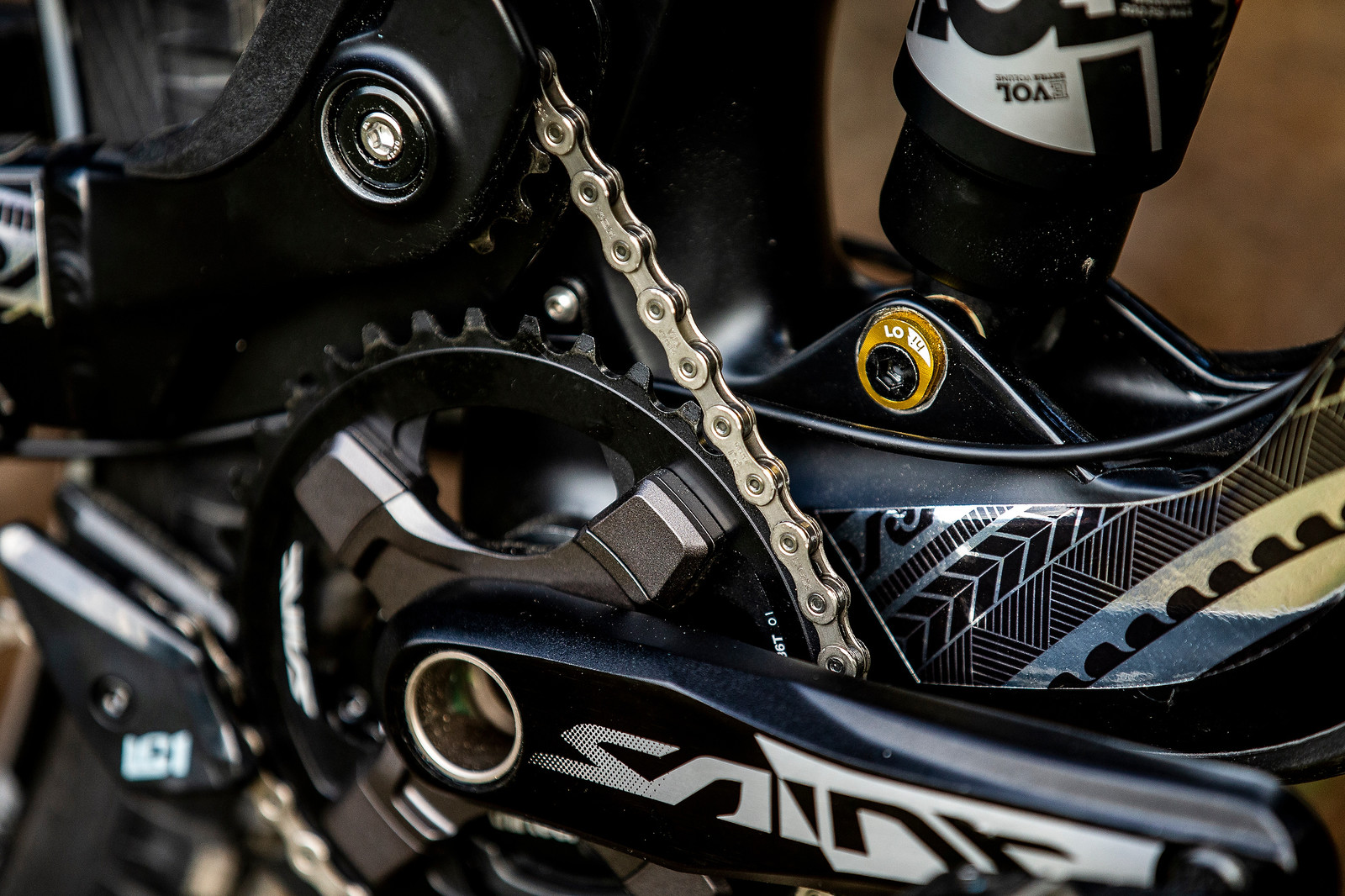 Idler Up Close - WORLD CHAMPS BIKE - Wyn Masters' GT Fury - Mountain Biking Pictures - Vital MTB