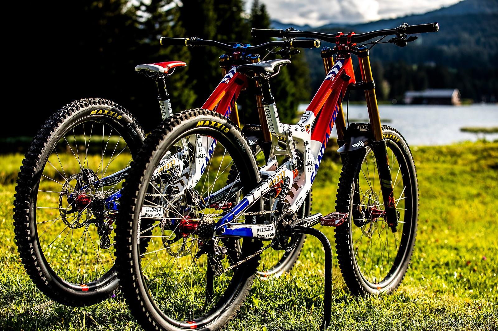 A Speedy Pair - WORLD CHAMPS BIKES - Loris Vergier's Santa Cruz V10s - Mountain Biking Pictures - Vital MTB