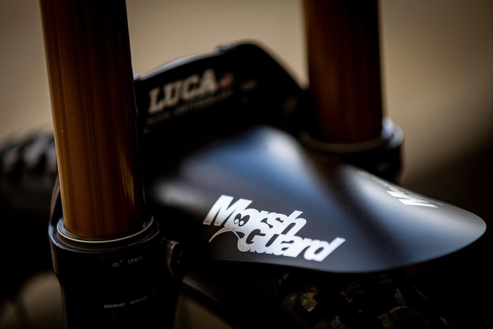Marsh Guard - WORLD CHAMPS BIKE - Luca Shaw's Santa Cruz V10 - Mountain Biking Pictures - Vital MTB