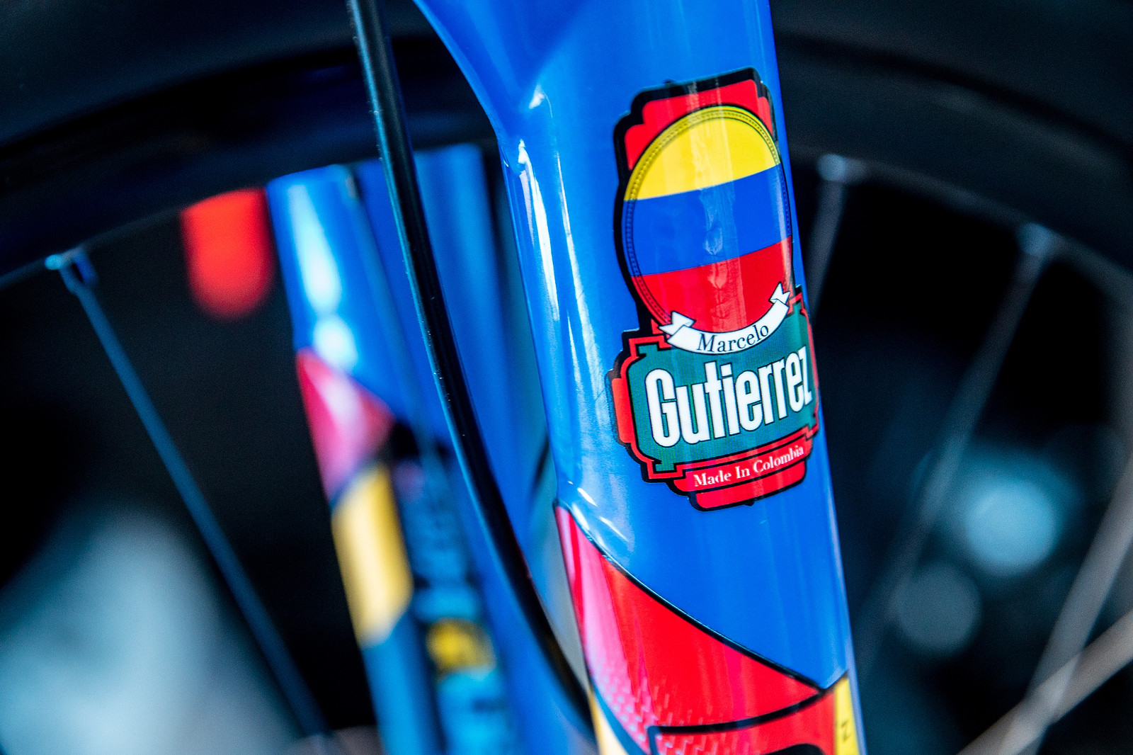 Clean - WORLD CHAMPS BIKE - Marcelo Gutierrez's Giant Glory - Mountain Biking Pictures - Vital MTB