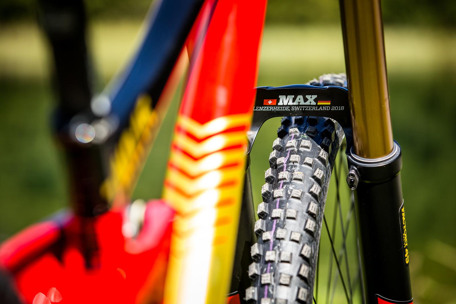 Hot Fire - WORLD CHAMPS BIKES - Matt Walker and Max Hartenstern's Cubes - Mountain Biking Pictures - Vital MTB