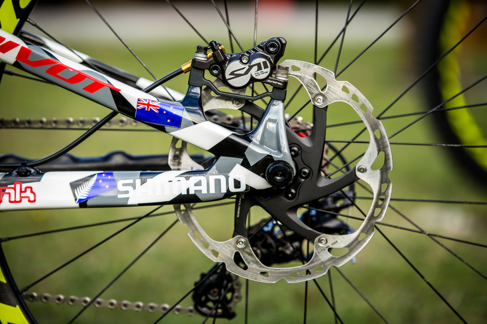 Shimano Saint Brakes - WORLD CHAMPS BIKE - Eddie Masters' Pivot Phoenix - Mountain Biking Pictures - Vital MTB