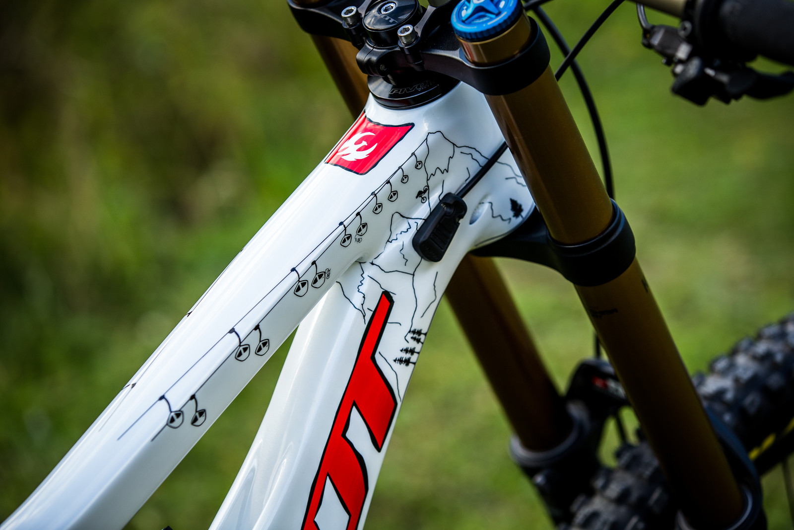 Top Tube - WORLD CHAMPS BIKE - Emilie Siegenthaler's Pivot Phoenix - Mountain Biking Pictures - Vital MTB