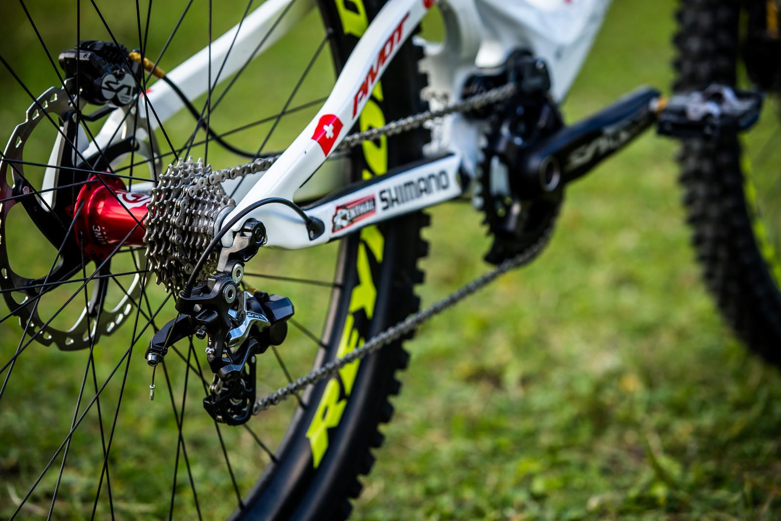 Rear End - WORLD CHAMPS BIKE - Emilie Siegenthaler's Pivot Phoenix - Mountain Biking Pictures - Vital MTB
