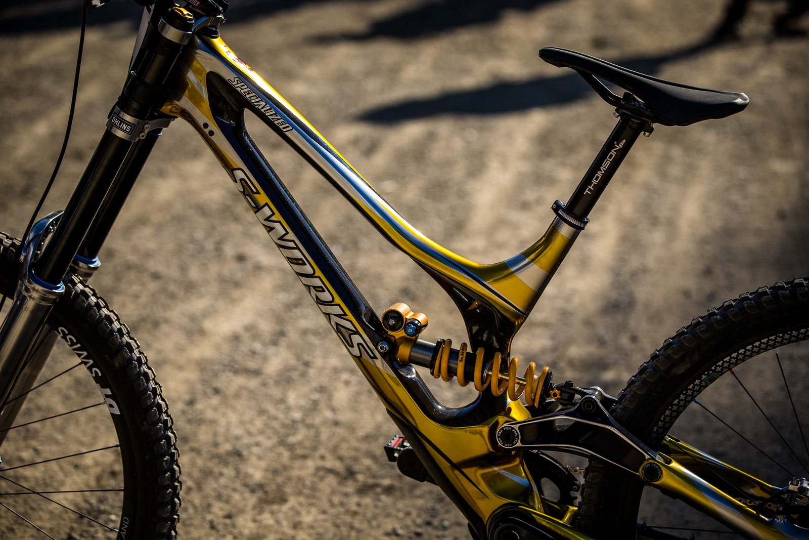 Non-Drive Side - WINNING BIKE - Loic Bruni's Specialized Demo - Mountain Biking Pictures - Vital MTB
