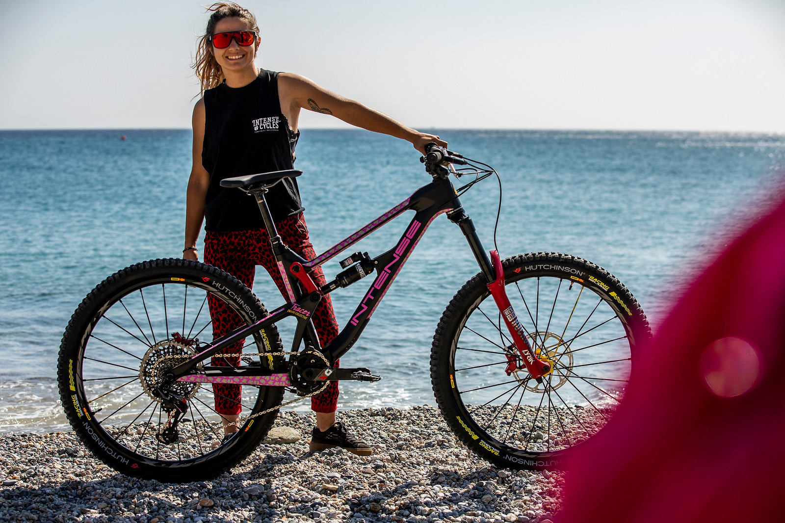 Isabeau Courdurier with Her Intense Tracer - PIT BITS - Enduro World Series Finale - Mountain Biking Pictures - Vital MTB