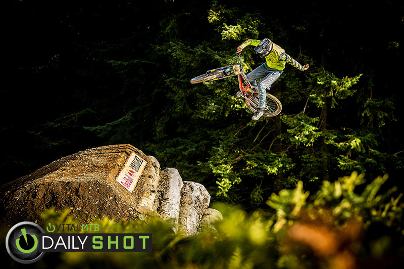 Dave The Dangler McMillan - BIG AIR PHOTO BLAST - RED BULL HARDLINE - Mountain Biking Pictures - Vital MTB