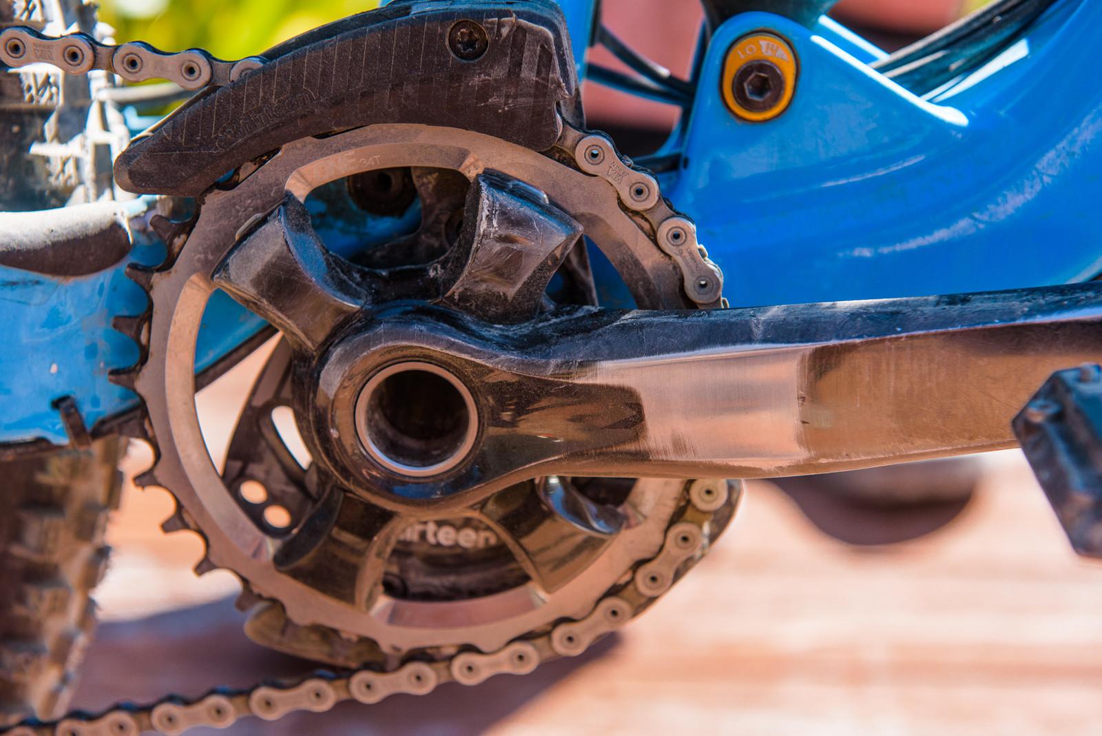 Shimano XTR Cranks - Pro Bike - Wyn Masters' GT Force, Size XL - Mountain Biking Pictures - Vital MTB