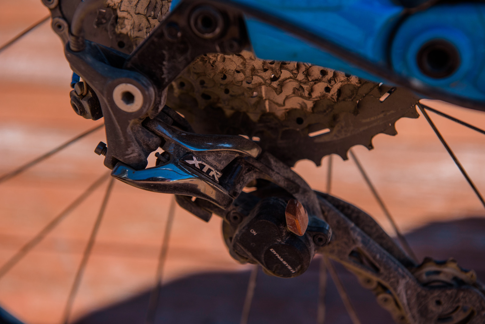 Shimano XTR Rear Derailleur - Pro Bike - Wyn Masters' GT Force, Size XL - Mountain Biking Pictures - Vital MTB