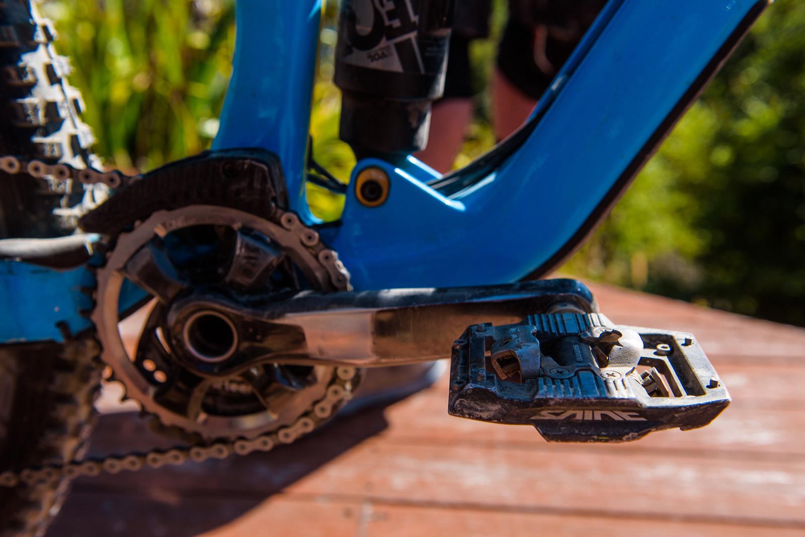 Shimano Saint Pedals - Pro Bike - Wyn Masters' GT Force, Size XL - Mountain Biking Pictures - Vital MTB