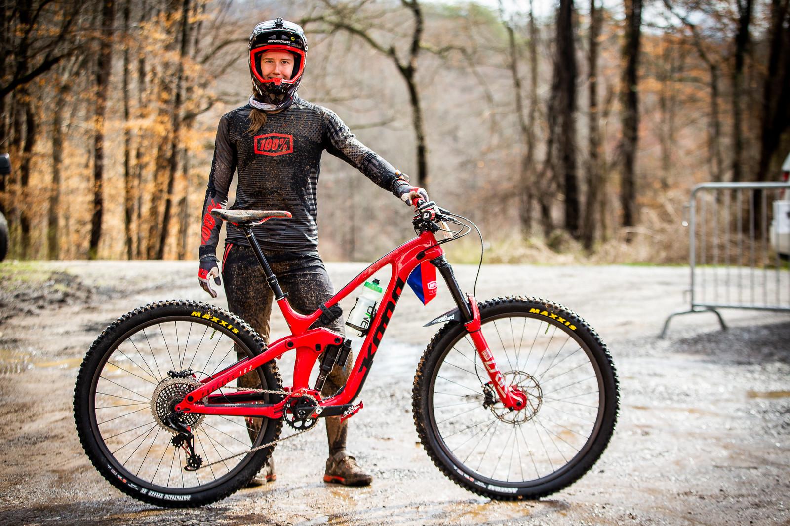 WINNING BIKE: Miranda Miller's Kona Process 153 from the Tennessee National - 2019 WINNING BIKES - Mountain Biking Pictures - Vital MTB