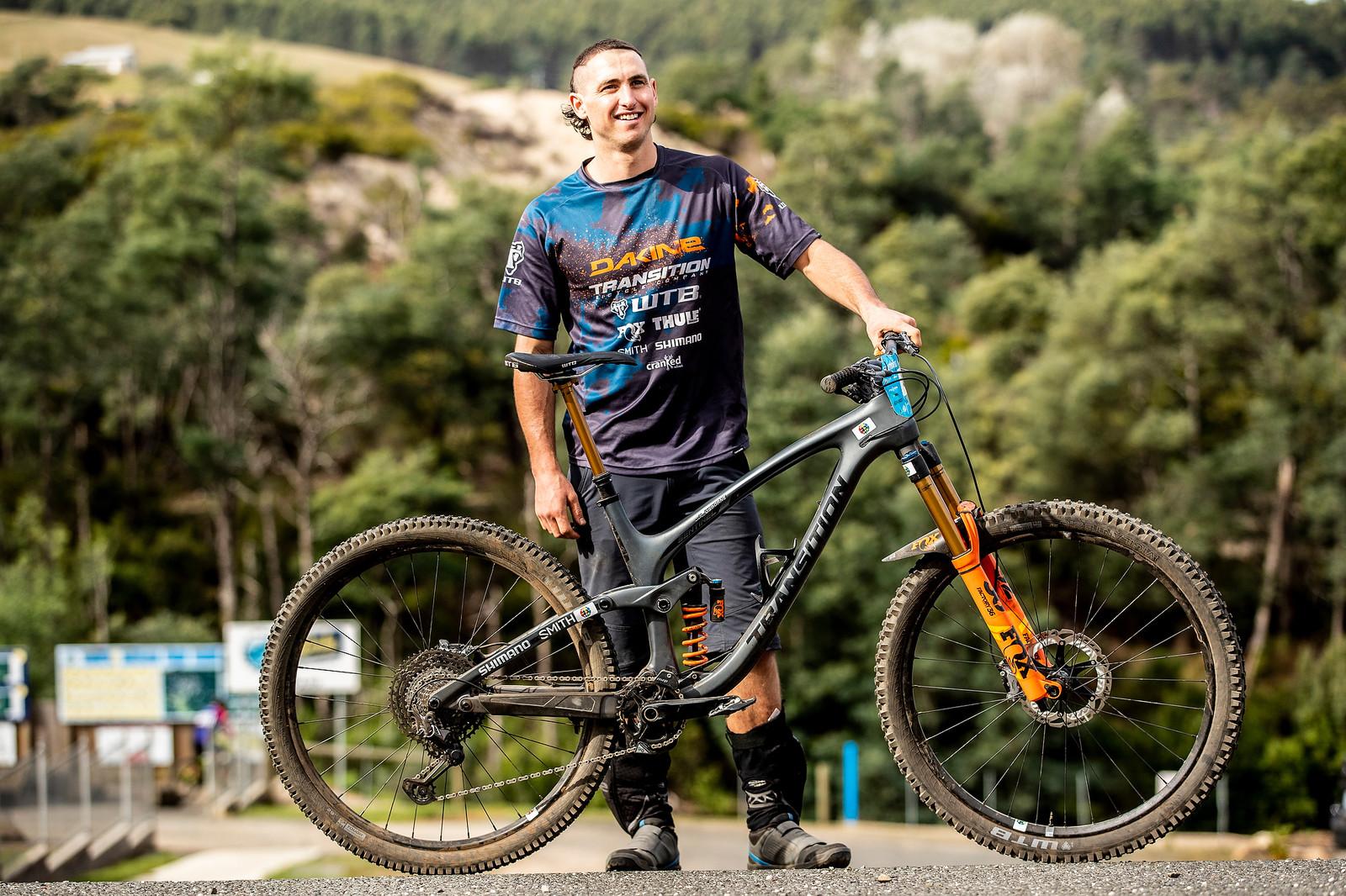 Marco Osborne's Transition Sentinel - What's Stock, What's Not - Tasmania Enduro World Series - Mountain Biking Pictures - Vital MTB