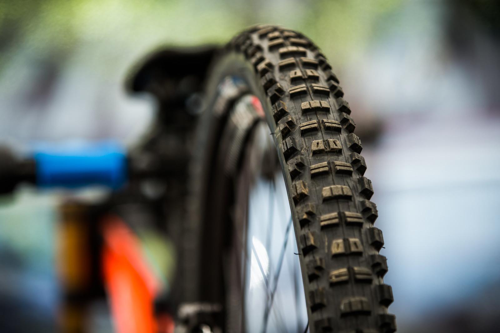 "Prototype Maxxis ""Test Pilot"" Tire - PIT BITS - iXS Cup Maribor - Mountain Biking Pictures - Vital MTB"