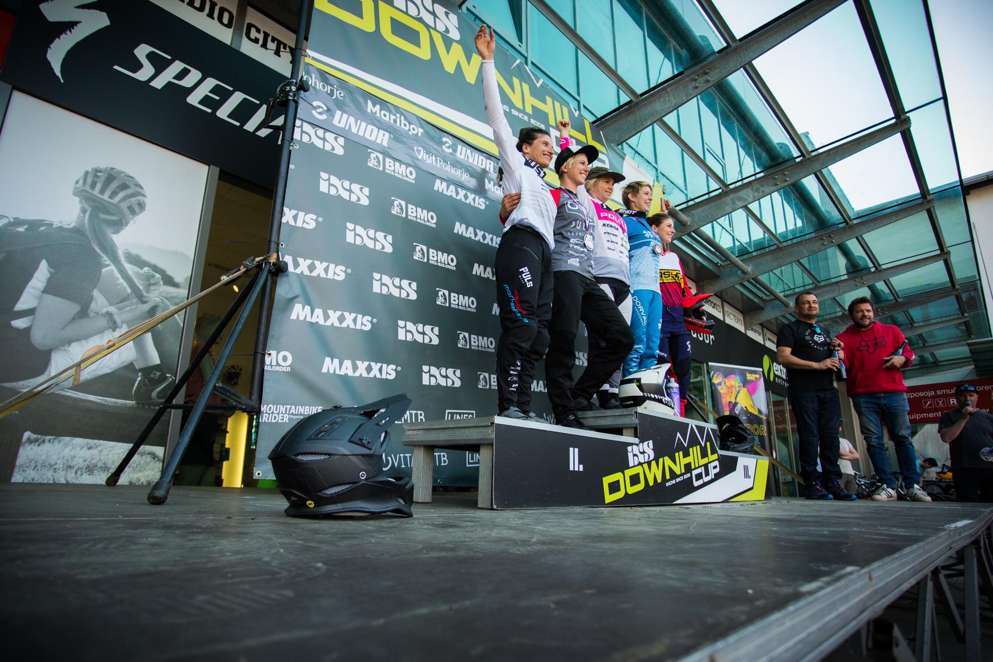 Elite Women's Podium - iXS Downhill Cup Maribor - Race