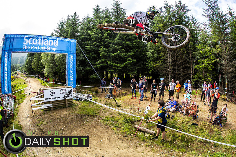 Brendan Fairclough Flying - Fort William World Cup DH Whips - Mountain Biking Pictures - Vital MTB