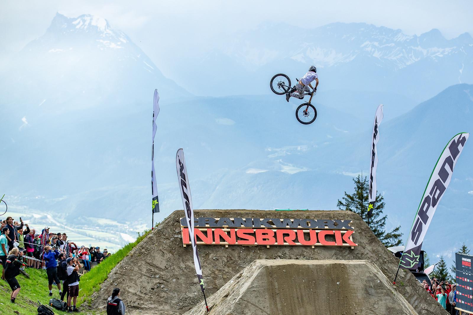 European Whip Off Champs - Crankworx Innsbruck - Kaos Seagrave, Winner! - European Whip Off Champs - Crankworx Innsbruck - Mountain Biking Pictures - Vital MTB
