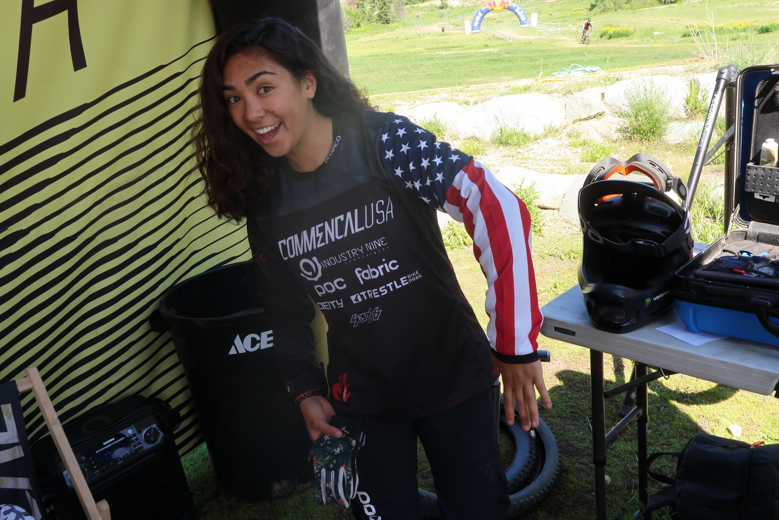Sam Soriano and the National Champs Sleeve - PIT BITS - Tamarack Pro GRT / NW Cup - Mountain Biking Pictures - Vital MTB