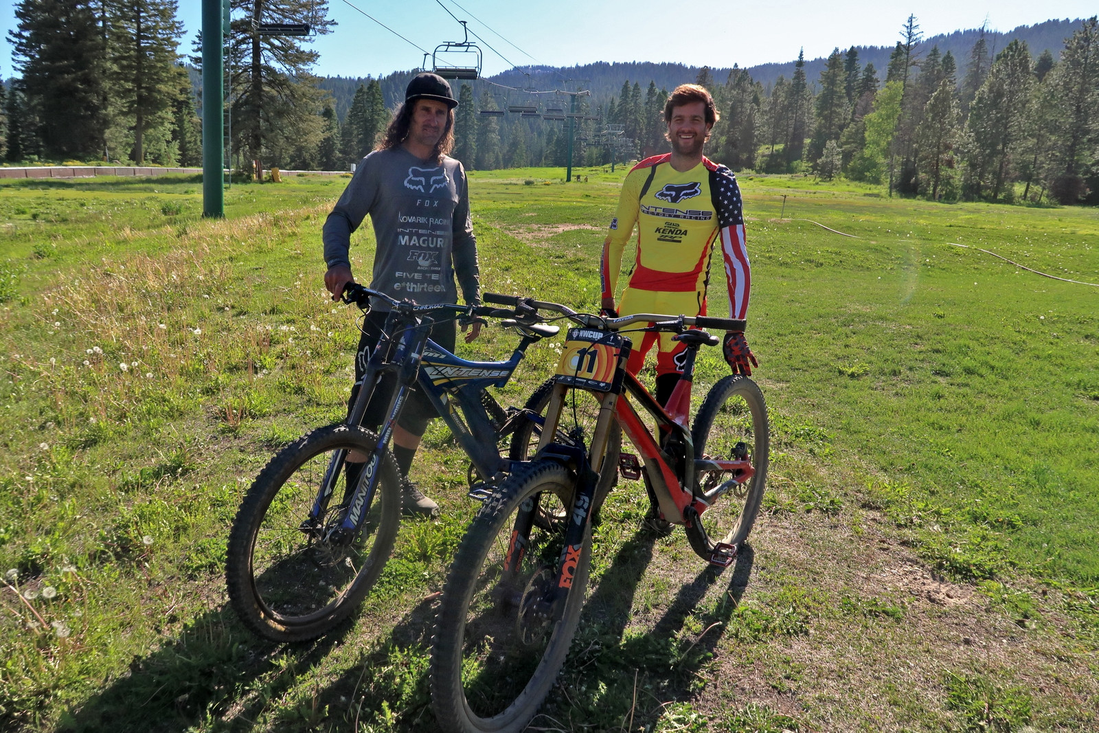Chris Kovarik and Neko Mulally - PIT BITS - Tamarack Pro GRT / NW Cup - Mountain Biking Pictures - Vital MTB