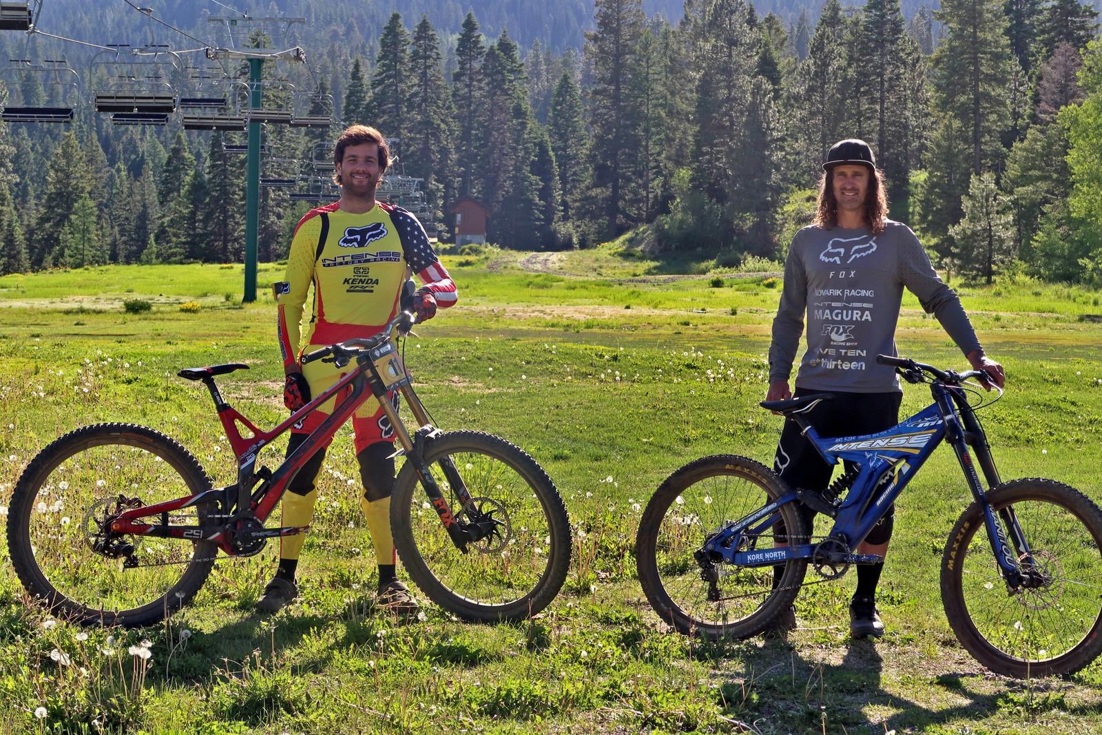 Chris Kovarik and Neko Mulally - PIT BITS - Tamarack Pro GRT / NW Cup - Mountain Biking Pictures - Vital MTB