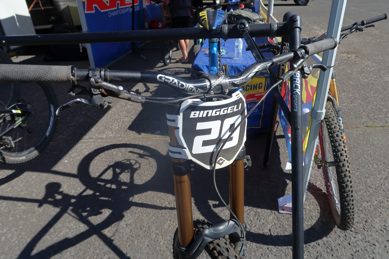 Logan Binggeli's Plate, Age and Wheel Size All in One - PIT BITS - Tamarack Pro GRT / NW Cup - Mountain Biking Pictures - Vital MTB