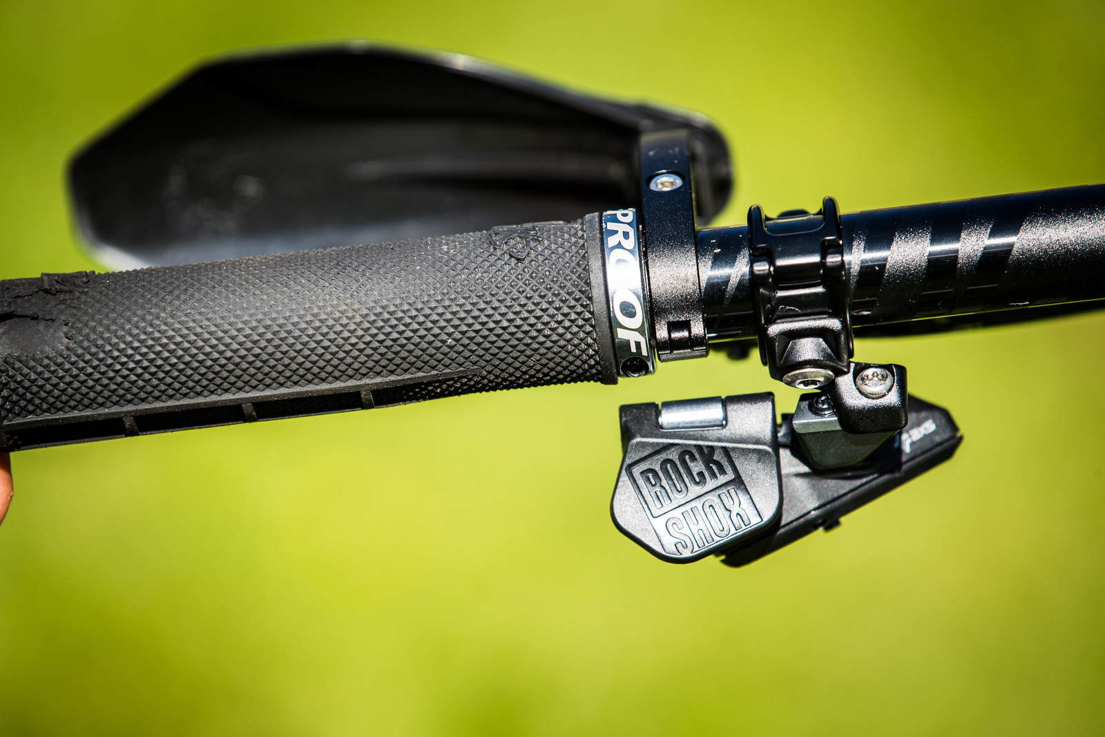 SRAM AXS Reverb Lever - Sam Hill's Updated Prototype Nukeproof Mega 29 with SRAM AXS - Mountain Biking Pictures - Vital MTB