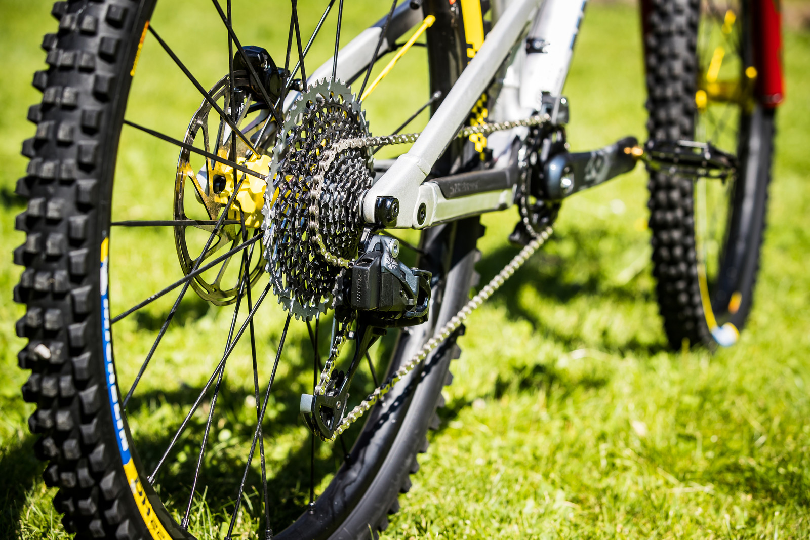 SRAM AXS Wireless Drivetrain for Sam Hill - Sam Hill's Updated Prototype Nukeproof Mega 29 with SRAM AXS - Mountain Biking Pictures - Vital MTB