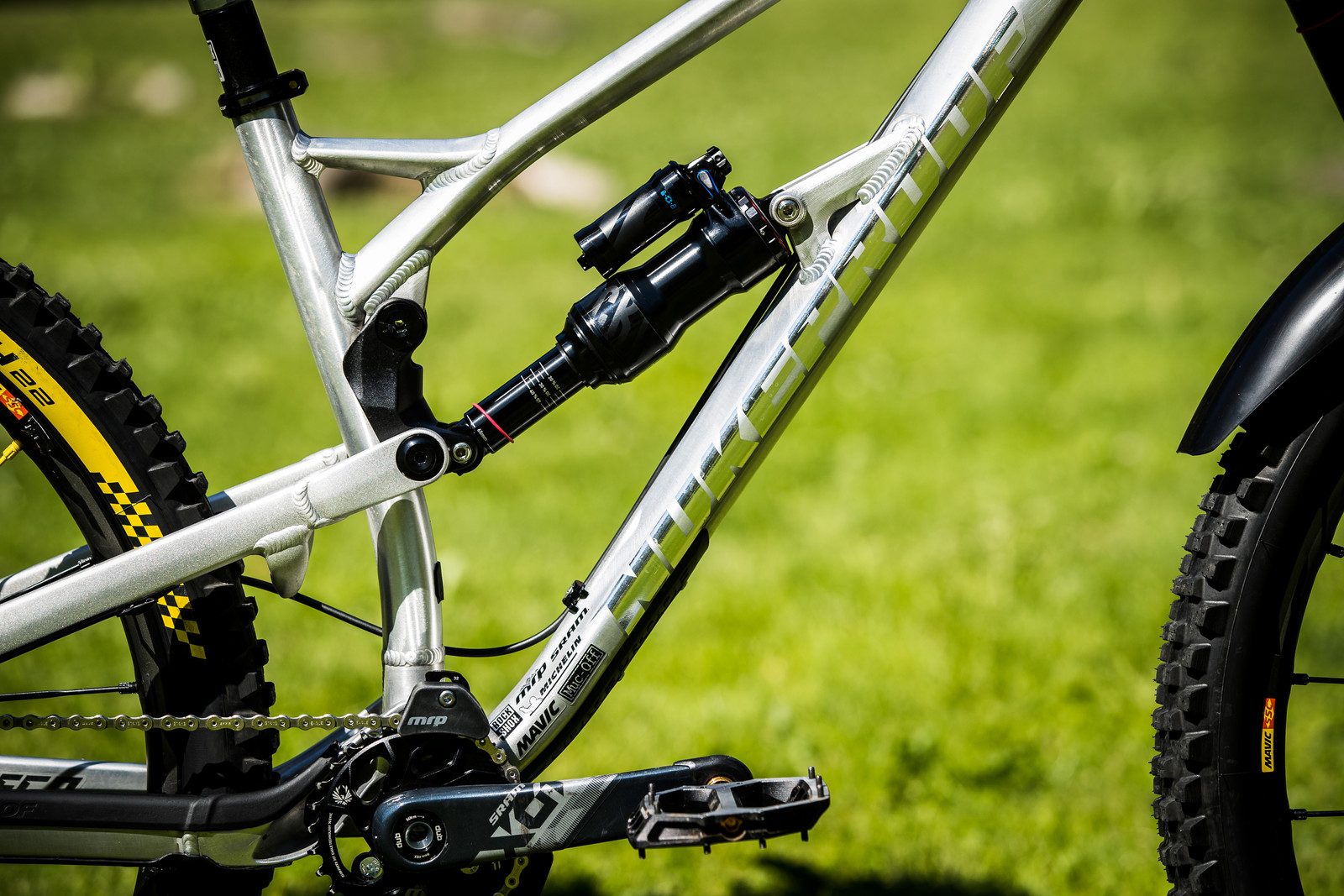 The Shock Guts Tell The Story - Sam Hill's Updated Prototype Nukeproof Mega 29 with SRAM AXS - Mountain Biking Pictures - Vital MTB