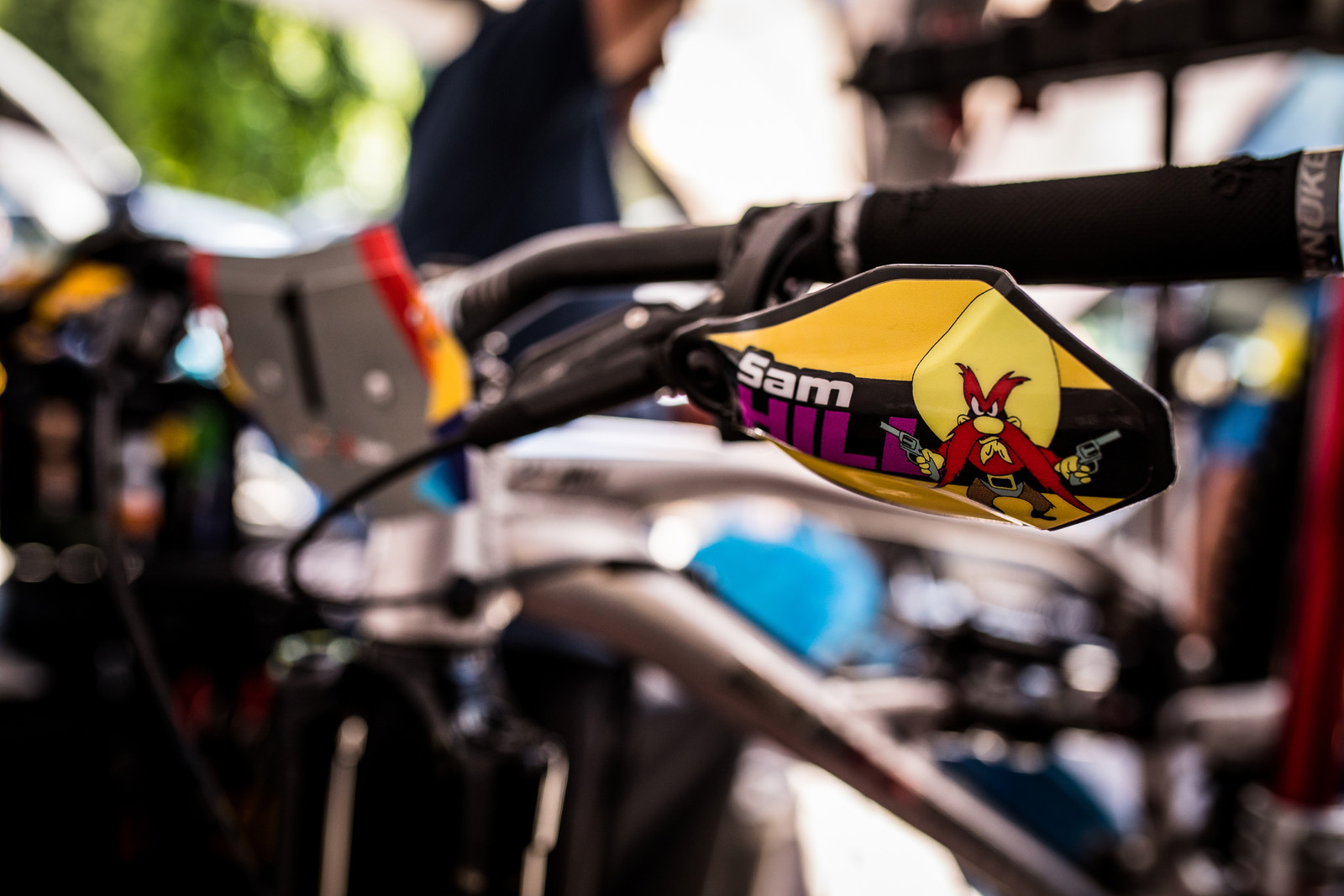 Bark Busters - Sam Hill's Updated Prototype Nukeproof Mega 29 with SRAM AXS - Mountain Biking Pictures - Vital MTB